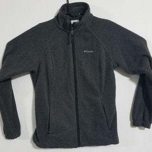 2/$60 Columbia Mens Medium Gray Fleece Jacket Grey